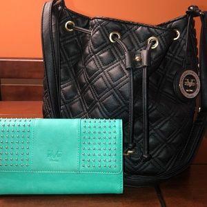 Authentic Versace handbag with wallet